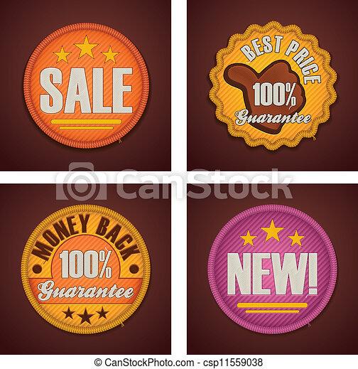 Vector shopping badges set - csp11559038