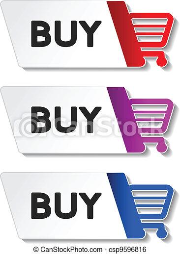 Vector shopping cart item - buy button - csp9596816
