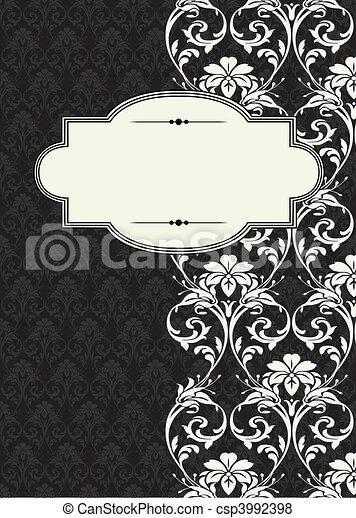 Vector Side Damask Frame - csp3992398