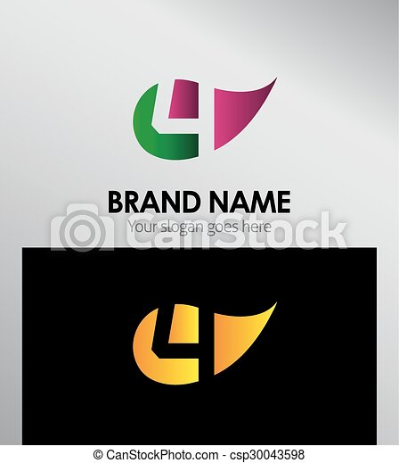 Vector sign Eco number four logo - csp30043598
