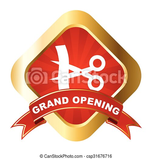 vector sign grand opening - csp31676716