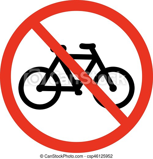 Vector Sign No Bicycle No Bicycle Bike Prohibited Symbol