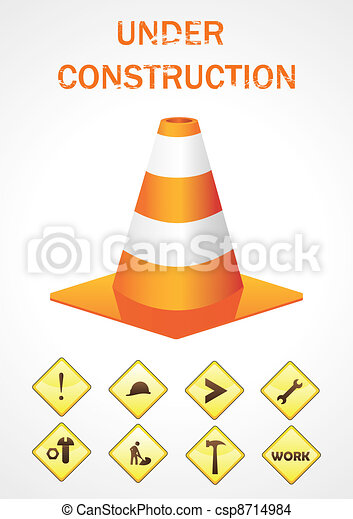 Vector sign under construction - csp8714984