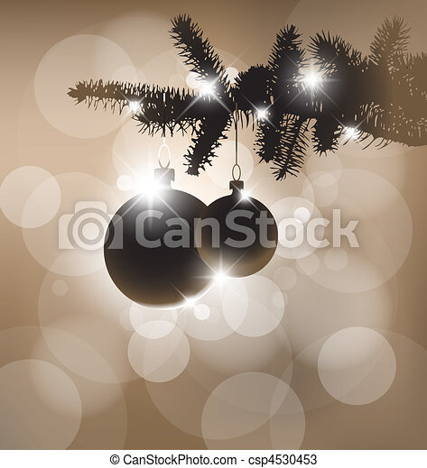 Vector silhouette of a Christmas tree - csp4530453