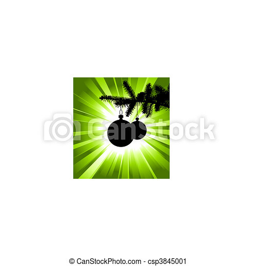 Vector silhouette of a Christmas tree - csp3845001