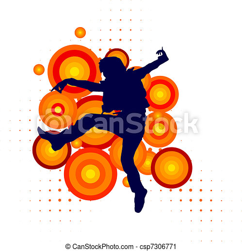 Vector silhouette of a dancer - csp7306771