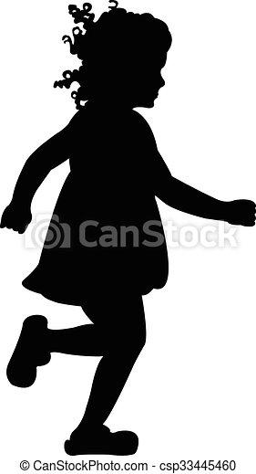 Vector silhouette of a girl - csp33445460