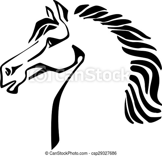 vector silhouette of a horse head vector image of an horse rh canstockphoto com horse head vector png horse head vector black and white