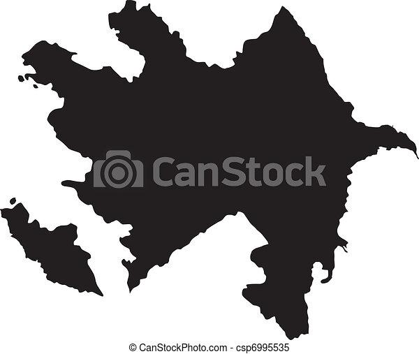 vector silhouette of Azerbaijan - csp6995535