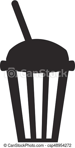 vector silhouette of coffee and tea cup isolated on white vector