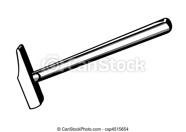vector silhouette of the gavel on white background - csp4515654