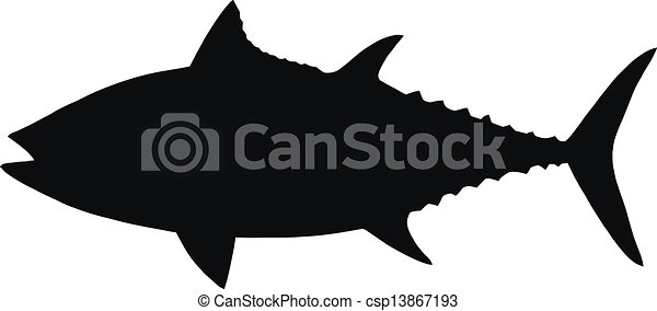 vector silhouette of tuna hq vector silhouette of tuna isolated on