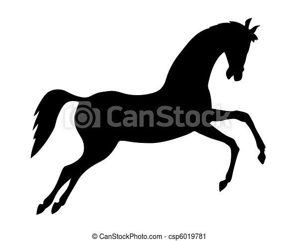vector silhouette on white background - csp6019781