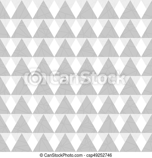 Vector Silver Grey Geometric Triangles Seamless Repeat Eps Vector