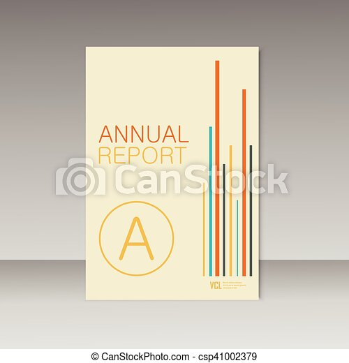 vector simple brochure design for your report