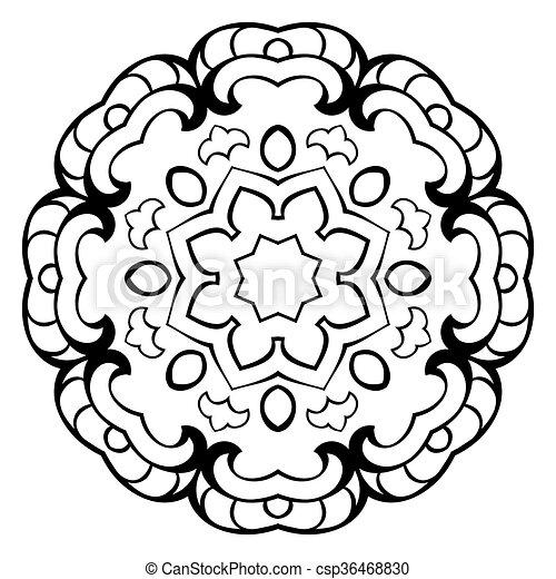 Vector simple mandala