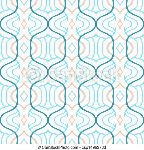 Vector Simple Moroccan Pattern In Blue And White
