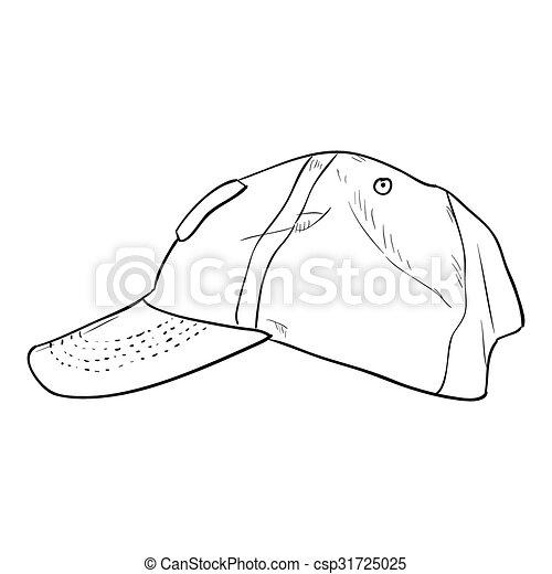 Vector sketch cap template. hand draw illustration. vector ...