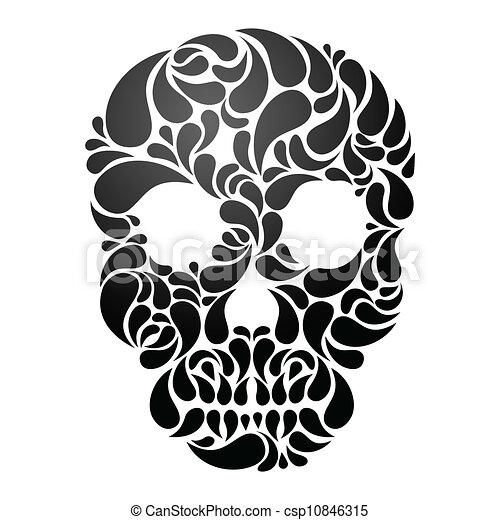 Vector Skull - csp10846315