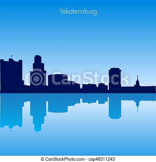 Vector skyline of Yekaterinburg. Russia - csp48311243