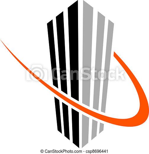 vector skyscraper symbol - csp8696441