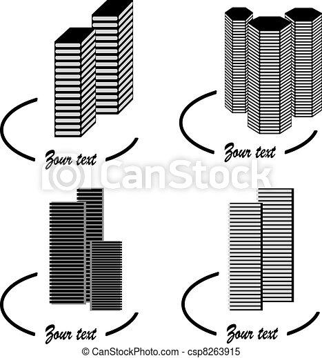 Vector skyscraper symbols - csp8263915