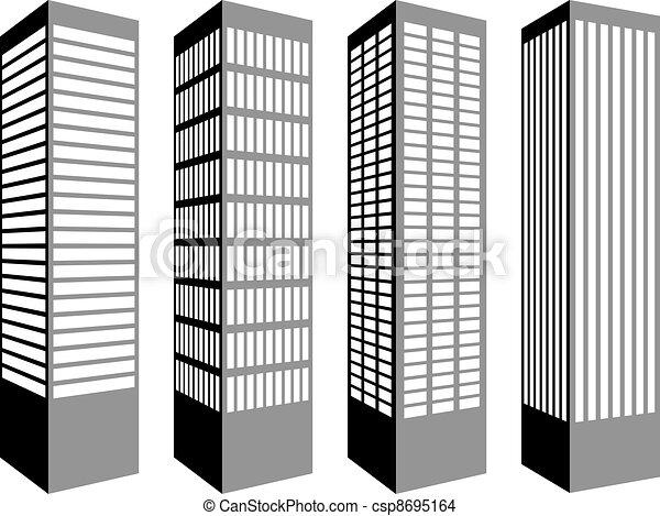 vector skyscraper symbols rh canstockphoto com skyscraper clipart black and white Skyscraper Graphic