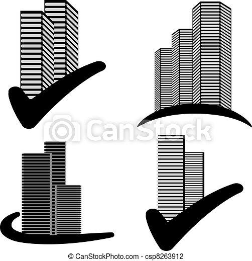 Vector skyscraper symbols - csp8263912