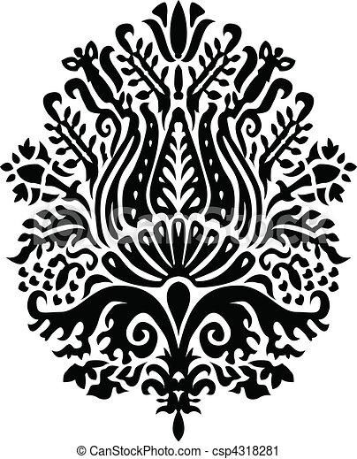 Vector Small Flower Ornament - csp4318281