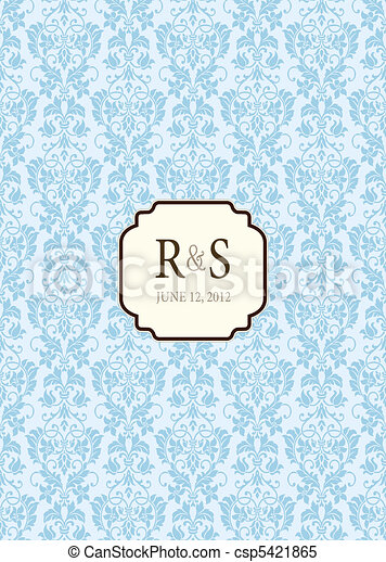 Vector Small Frame and Ornate Background - csp5421865