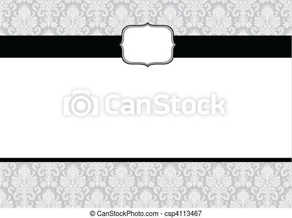 Vector Small Frame and Pattern - csp4113467