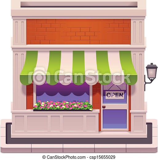 Vector small shop icon - csp15655029