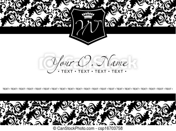 Vector Small Title Frame and Pattern - csp16703758
