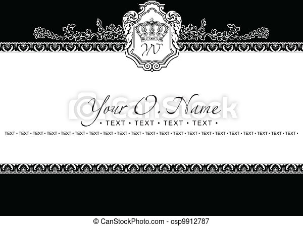 Vector Small Title Frame and Pattern - csp9912787