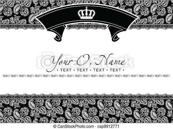 Vector Small Title Frame and Pattern - csp9912771