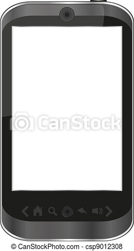 vector smart phone isolated on white - iphone - csp9012308