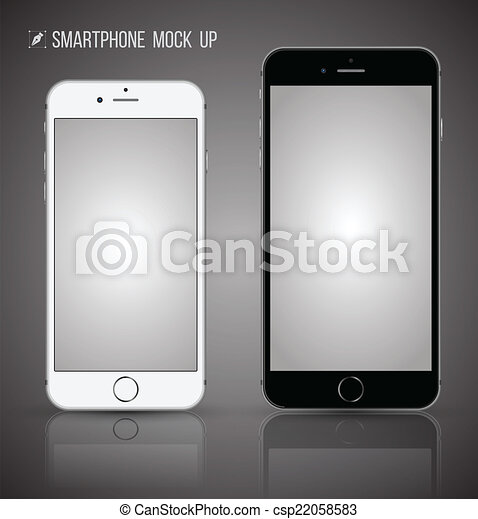Vector smartphone mock up. - csp22058583
