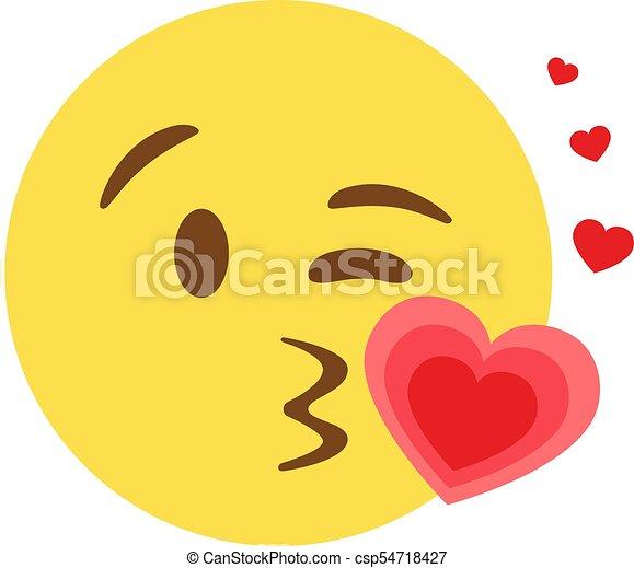 Smiley kuss zeichen herz Kuss smiley