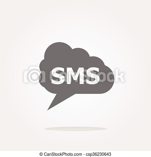 vector sms glossy web icon isolated on white background - csp36230643