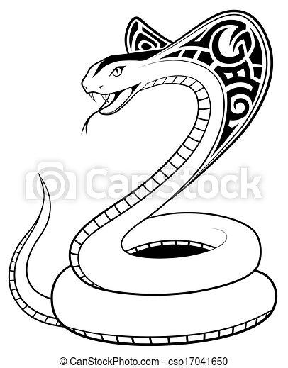 Vector Snake, tribal tattoo - csp17041650