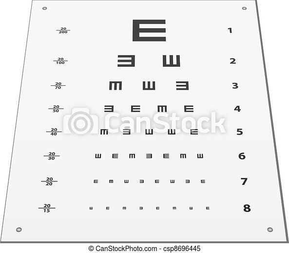 Optician Doctor With Snellen Eye Chart Doctor Funny Man  Eps