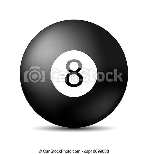 Vector snooker 8 pool. Eps 10 - csp10699038