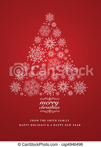 Vector snowflake christmas invite detailed christmas tree clip vector snowflake christmas invite stopboris Image collections