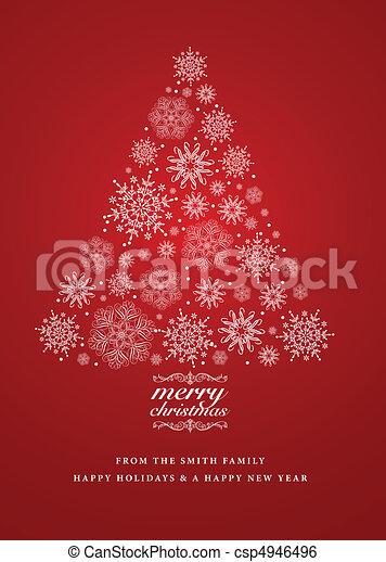 Vector snowflake christmas invite detailed christmas tree made of vector snowflake christmas invite stopboris Choice Image