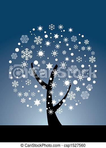 Vector snowflake tree - csp1527560
