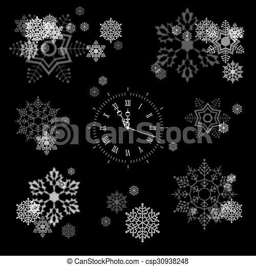 Vector Snowflakes Collection - csp30938248