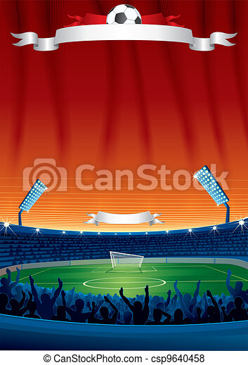 Vector Soccer Background Template - csp9640458
