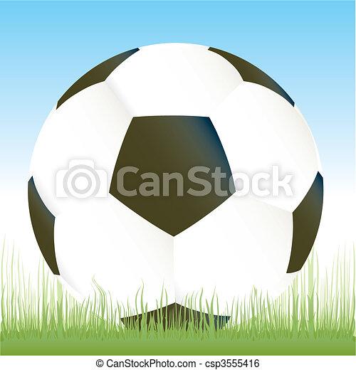 Vector soccer game ball - csp3555416