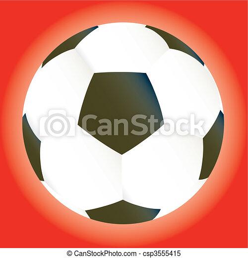Vector soccer game ball - csp3555415