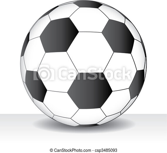 Vector soccer game ball isolated - csp3485093
